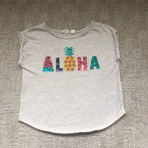 Gap Little Girl Aloha Sleeveless Tee Sz XS (4-5)